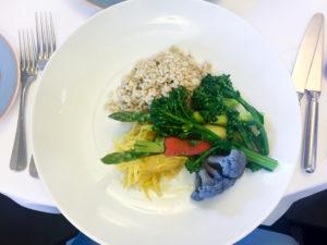 Vegan lunch option at the Walt Disney Studio Lot in Burbank, CA