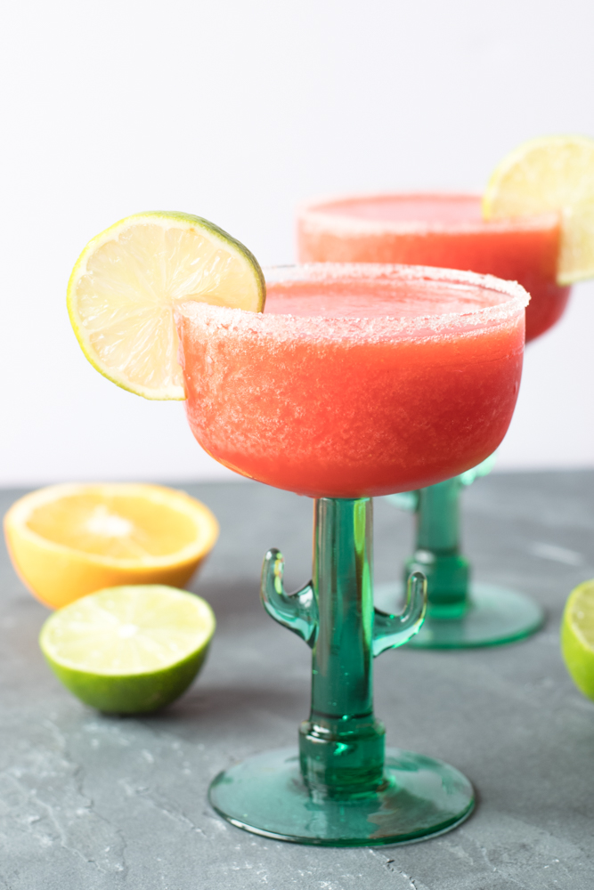 Frozen Strawberry Margaritas Thyme Love