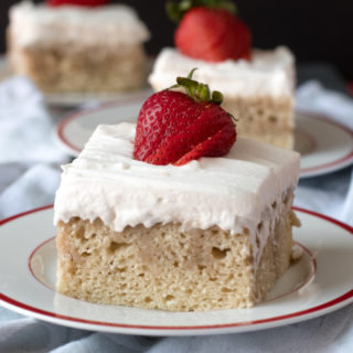 Vegan Tres Leches Cake is a dairy-free take on the classic tres leches cake popular in Latin America. #vegan