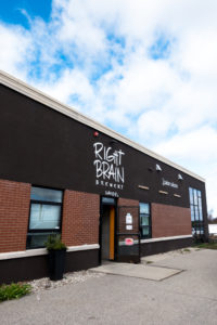 Right Brain Brewery located in Traverse City, Michigan