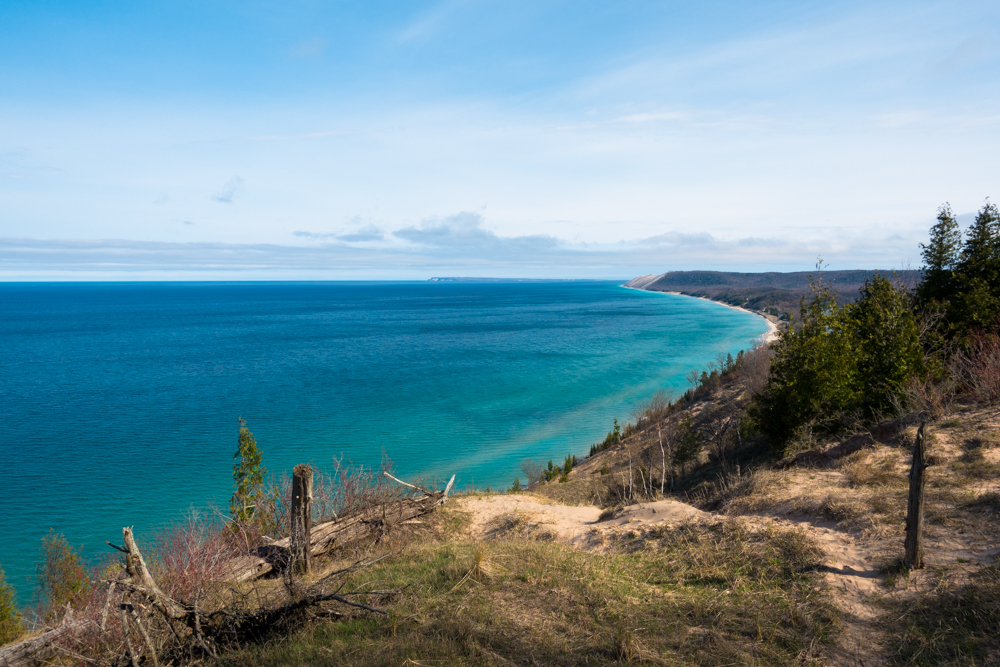 Empire Bluff overlook at Sleeping Bear Dunes.