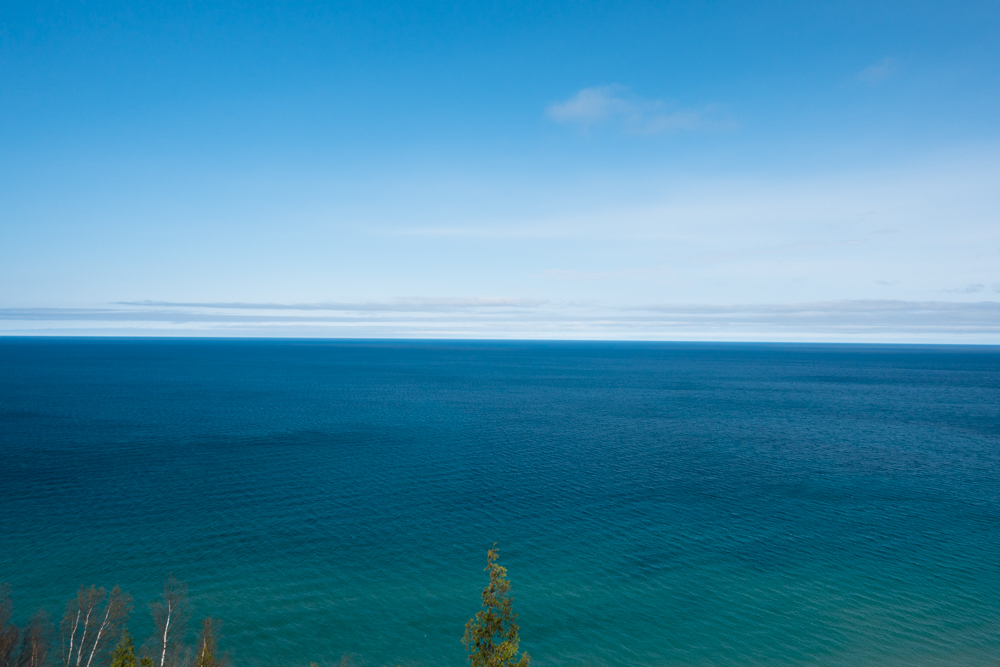 Spectacular views at Empire Bluffs in Sleeping Bear Dunes