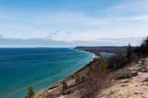 The Empire Bluffs overlook at Sleeping Bear Dunes National Lakeshore