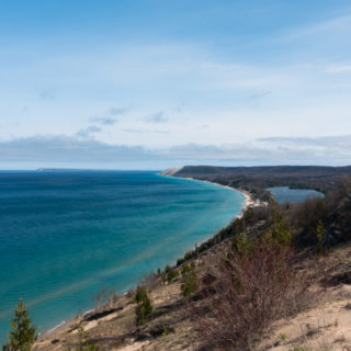 The Empire Bluffs overlook at Sleeping Bear Dunes National Lakeshore