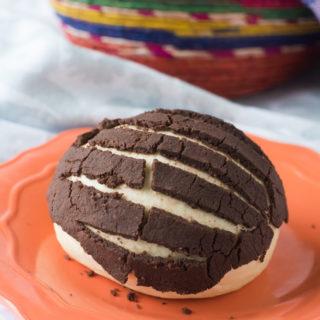 Vegan Mexican Chocolate Conchas