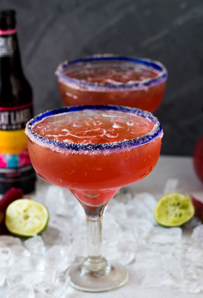 These Rhubarb Beer Margaritas aka Rhubaritas are the perfect summer drink. They are fruity, sweet, and refreshing!