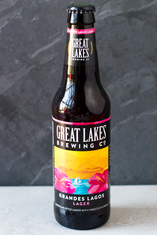 Grandes Lagos from Great Lakes Brewing makes for a delicious Rhubarb Beer Margarita.