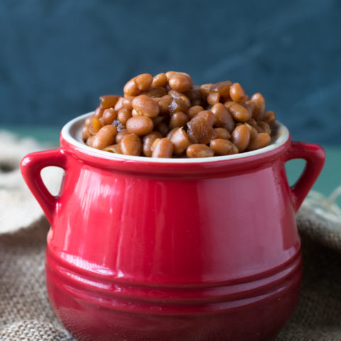 Slow Cooker Maple Baked Beans are perfect for your BBQs and summer picnics.