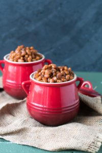 Slow Cooker Maple Baked Beans are an easy side dish to bring to your summer BBQs.