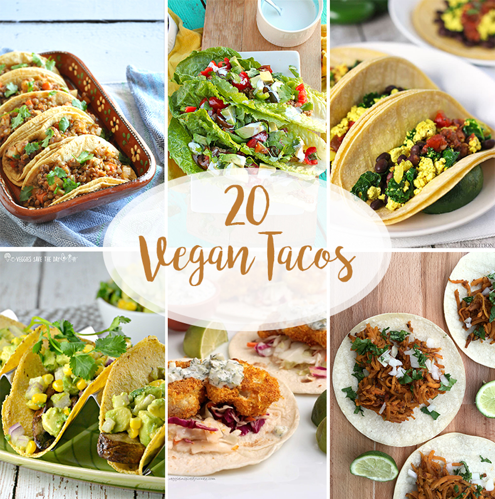 20 Vegan Taco Recipes that are perfect for your next fiesta! Looking for some new taco inspiration, check out these 20 delicious taco recipes!