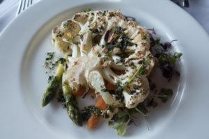 Vegan dining options at Mission Point Resort