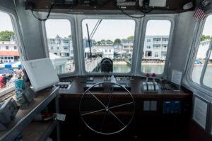 Ferry ride over to Mackinac Island.