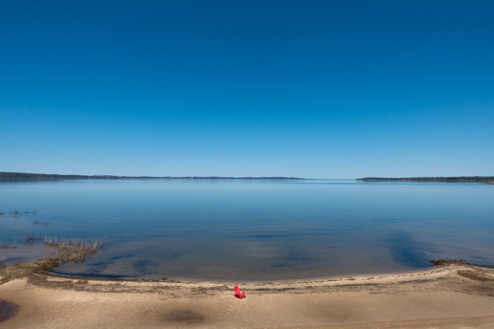 View of the East Grand Traverse Bay in Traverse City, Michigan