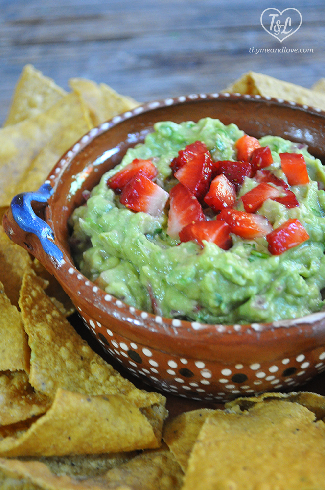 Celebrate strawberry season with this Strawberry Guacamole