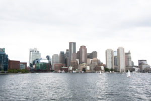 View of the Boston Harbor from the Boston Harbor Cruises