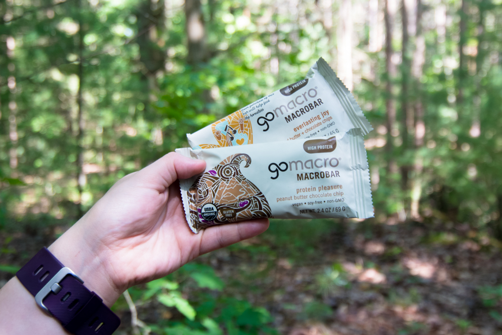Make sure to pack healthy snacks while on your hike. Gomacro bars make a great snack while out there on the trails.