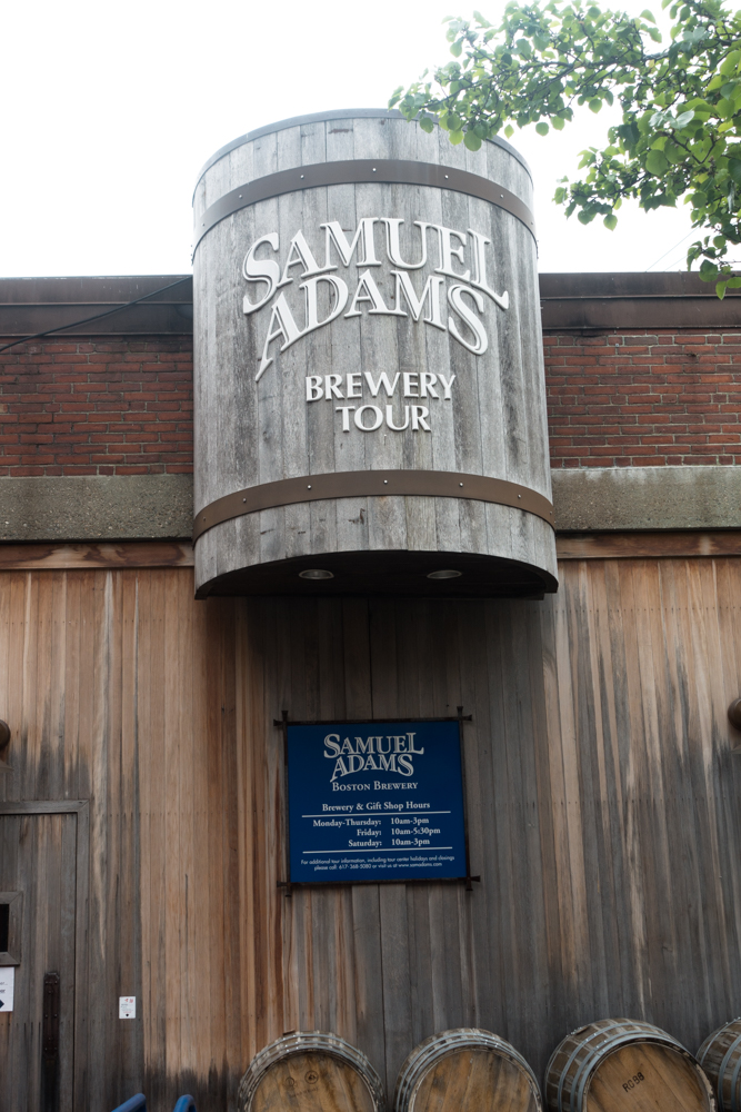 Samuel Adams Brewery Tour in Boston.