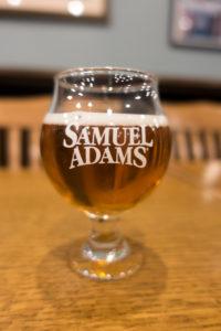 Sampling experimental beers at the tasting room at Sam Adams Brewery in Boston
