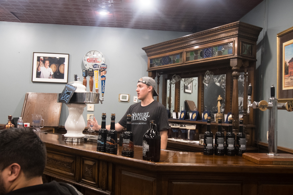 Tasting room at Samuel Adams Brewery in Boston