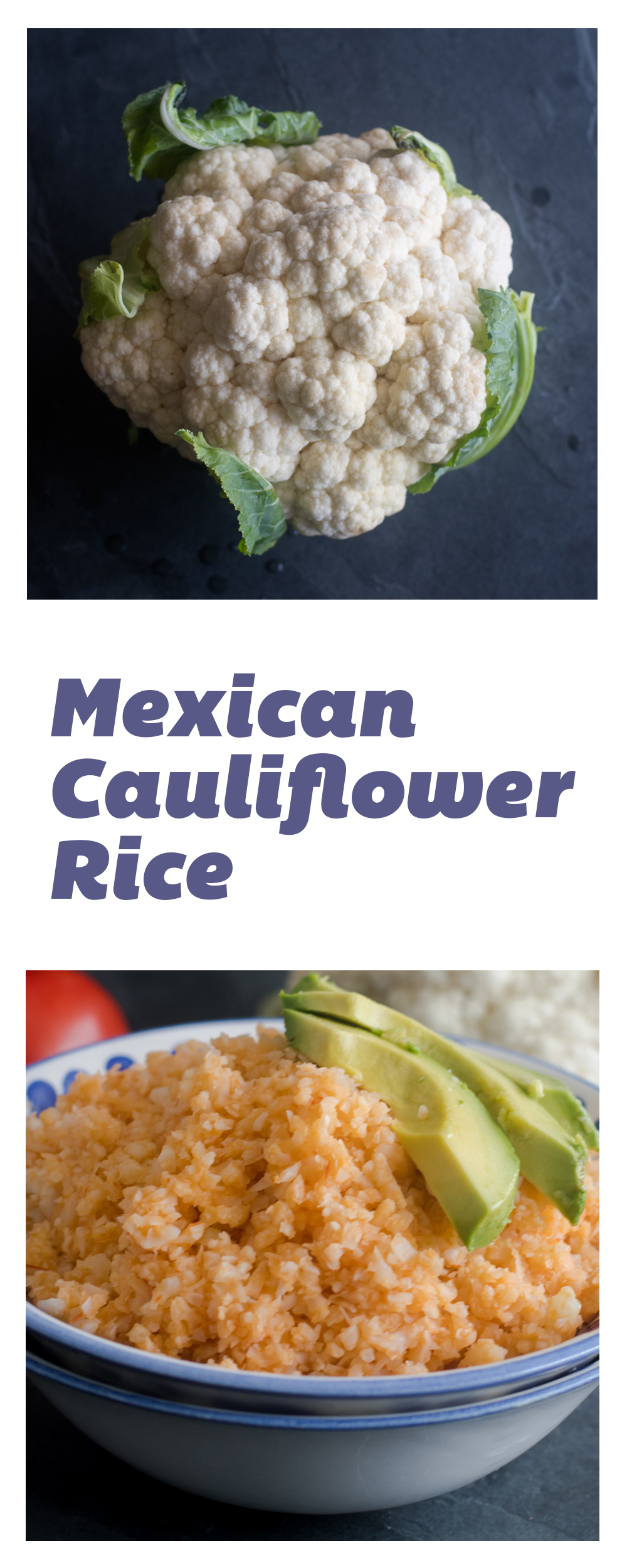 Mexican Cauliflower Rice is a healthier version of traditional Mexican rice!