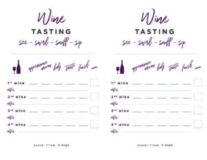 photo regarding Wine Tasting Sheets Printable known as Wine-Tasting-Printable-Card - Thyme Take pleasure in
