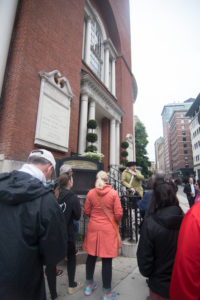 The 90-minute walking tour travels between Boston Common and Faneuil Hall, covering 11 of the 16 Freedom Trail historic landmarks. The Freedom Trail is a must do while in Boston!