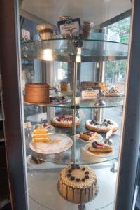Dessert case at Veggie Galaxy in Cambridge