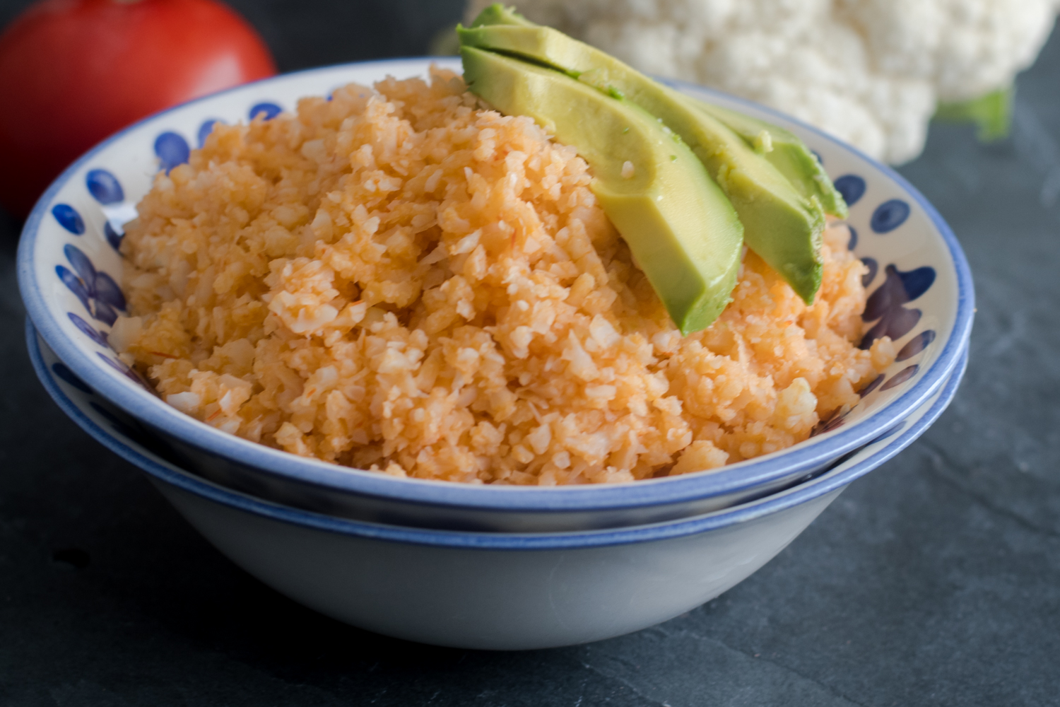 Inspired by the classic Mexican red rice, this low-carb and healthier version is made with cauliflower!