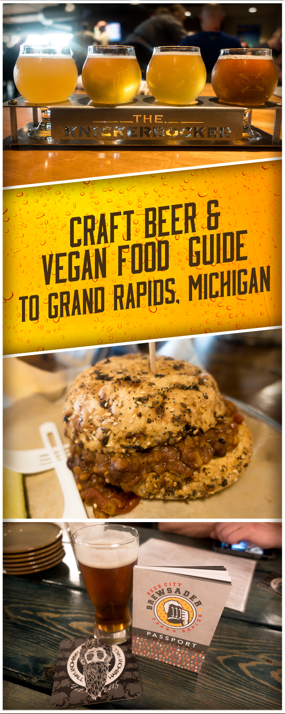A Craft Beer and Vegan Food Guide to Grand Rapids, Michiganguide.This guide will tell you where to find all the best vegan food and craft beer in Grand Rapids. Grand Rapids is know as Beer City USA and offers a great selection of craft beer. Plan your next beercation here!