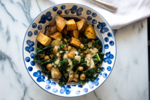 Smoky Kale and Chickpeas from Bold Vegan by Celine Steen
