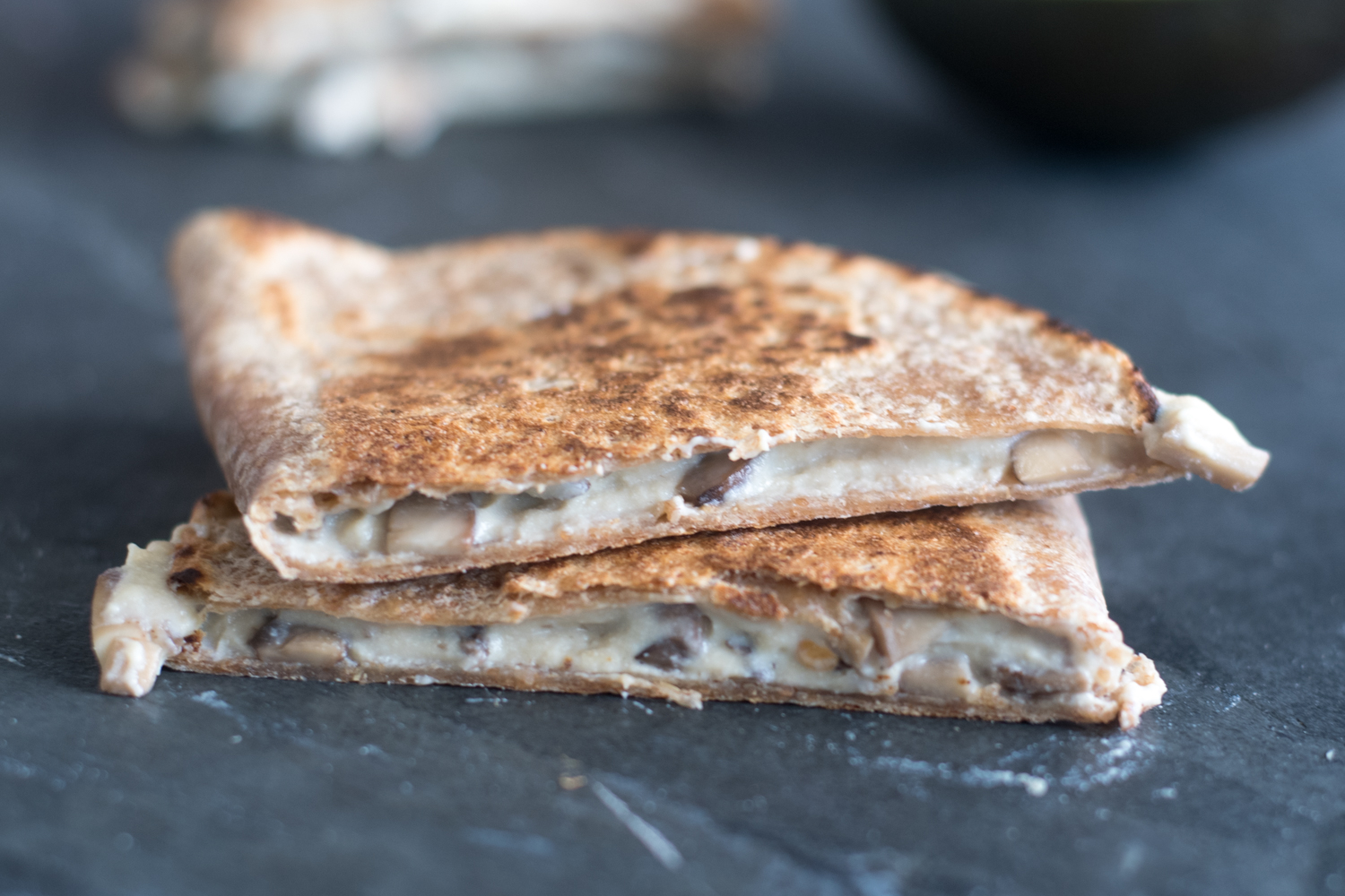 Gooey Mushroom Quesadillas from Frugal Vegan