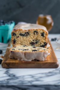 Blueberry golden summer ale creates a light end tender blueberry lemon beer bread. Lemon zest and fresh lemon juice adds a bright citrus note that pairs beautiful with the blueberries.
