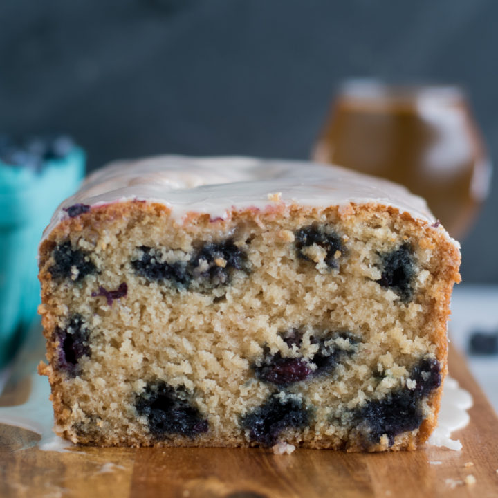 Blueberry golden summer ale creates a light end tender blueberry bread. Lemon zest and fresh lemon juice adds a bright citrus note that pairs beautiful with the blueberries.