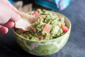 This Watermelon Guacamole is the perfect guacamole for summer. It's fruity, creamy from the avocado and has a spicy kick from jalapenos.