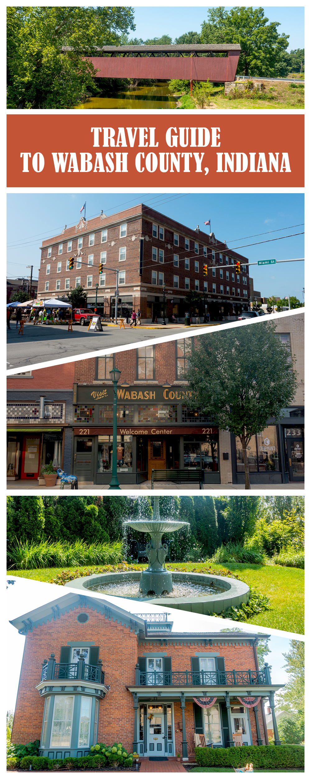 Wabash, Indiana is located in central Indiana, making it a great Midwest weekend getaway. Whether you are planning a romantic getaway or a girls weekend, Wabash is the perfect spot!