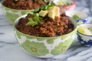 Slow Cooker Pumpkin Chili is perfect for a chilly fall evening. The slow cooker does all the work!