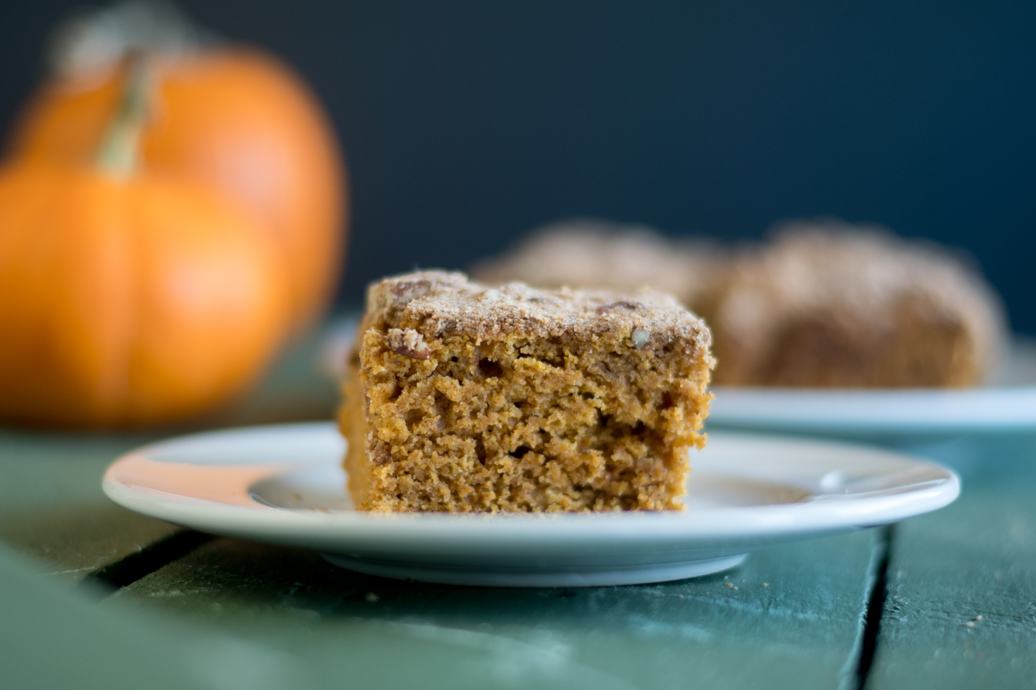 This Vegan Pumpkin Cake with Pecan Streusel is perfect for fall.