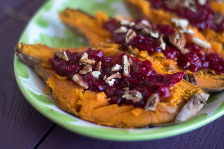 Cranberry Stuffed Sweet Potatoes