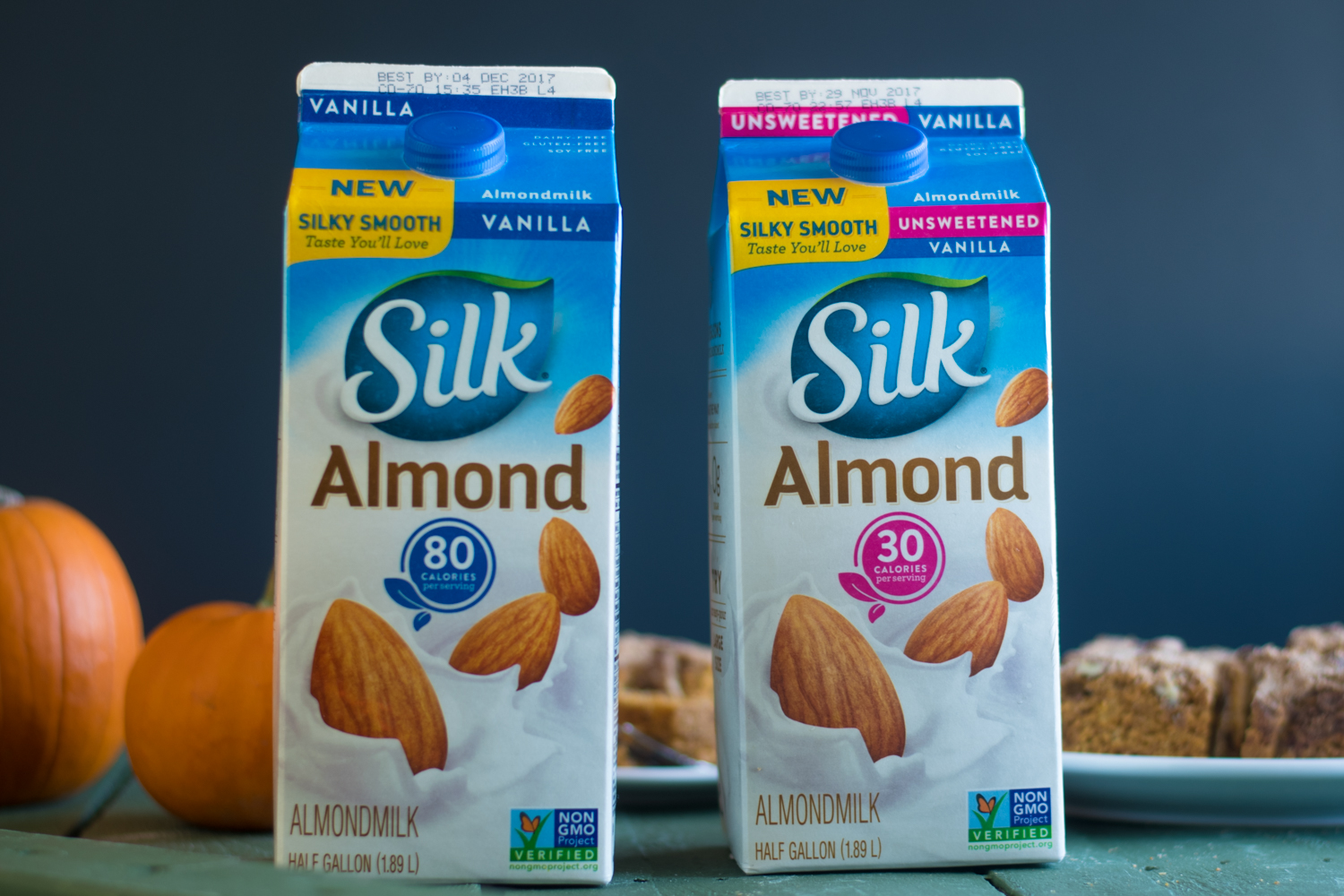 Silk® Vanilla Almondmilk & Silk® Vanilla Unsweetend Almondmilks are a staple in my kitchen. They make a great alternative to regular dairy milk.