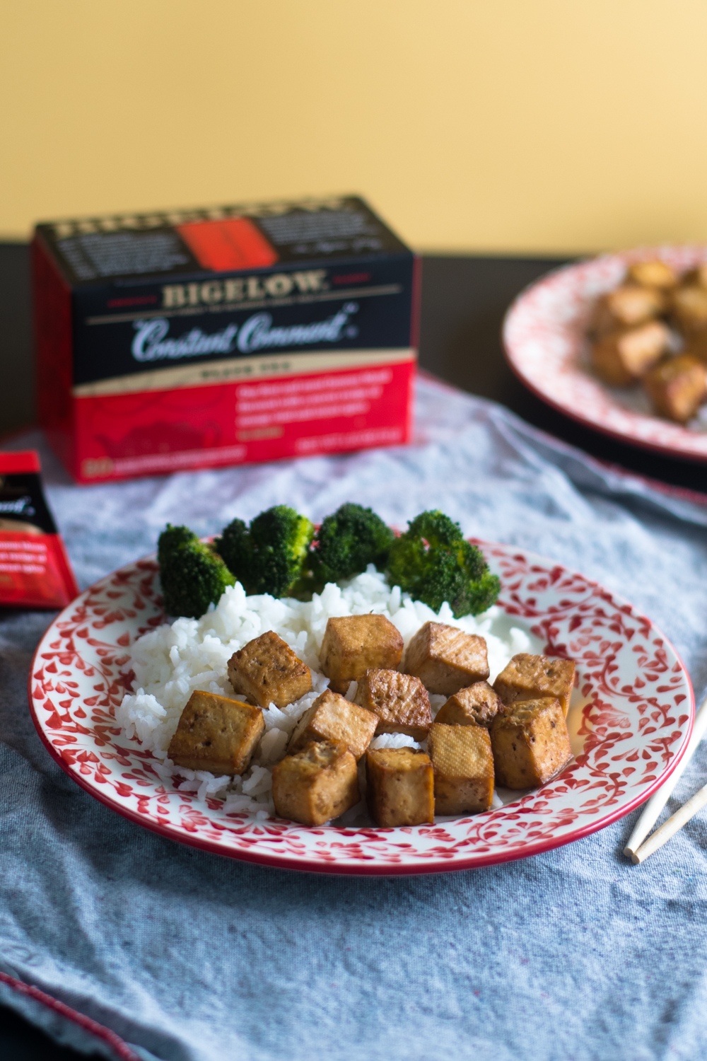 Tea makes a flavorful marinade base for tofu. This baked tofu is packed with flavor!