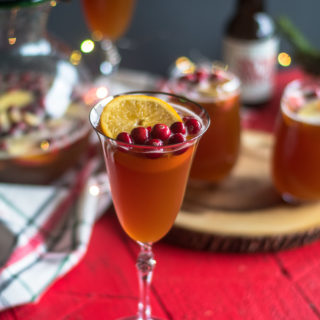 This festive Christmas Beer Sangria is perfect for all the beer lovers in your family. #christmas #drink