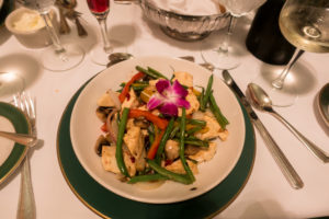 Vegan dining options at the Grand Hotel located on Mackinac Island.