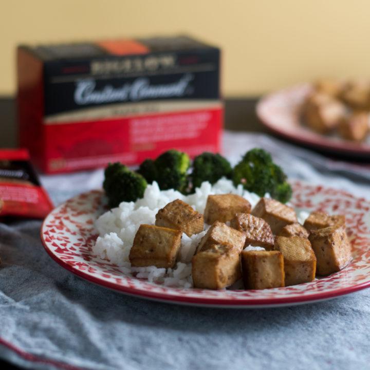 Tea makes a delicious marinade base for baked tofu. Quick & easy!