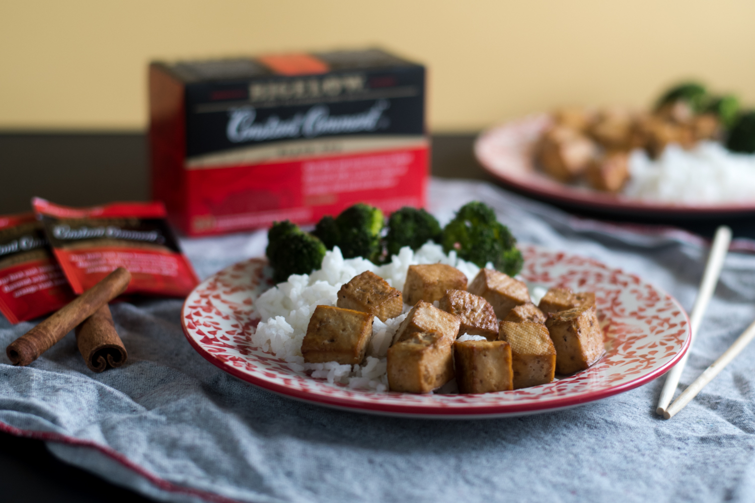 Tea makes a delicious marinade base for baked tofu. Quick & easy!