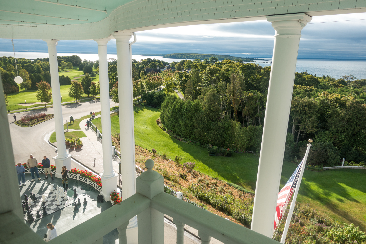 View for the Grand Hotel on Mackinac Island