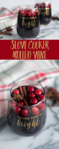 This Slow Cooker Mulled Wine is perfect for holiday entertaining! #holidays #christmas #drink