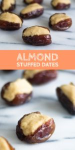 Almond Stuffed Dates are a traditionalMexican candy. This versionis made a little healthier! #vegan #paleo