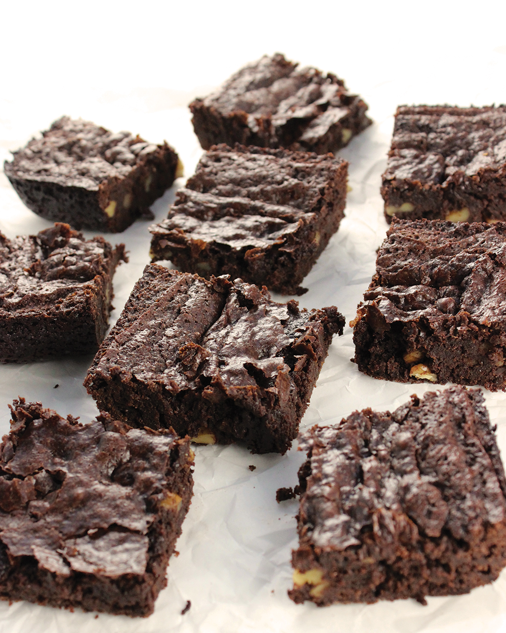 Fudgy Double Chocolate Brownies from Fuss-Free Vegan