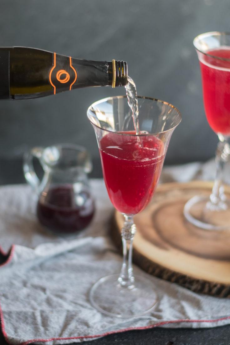 Pomegranate Orange Prosecco Cocktail