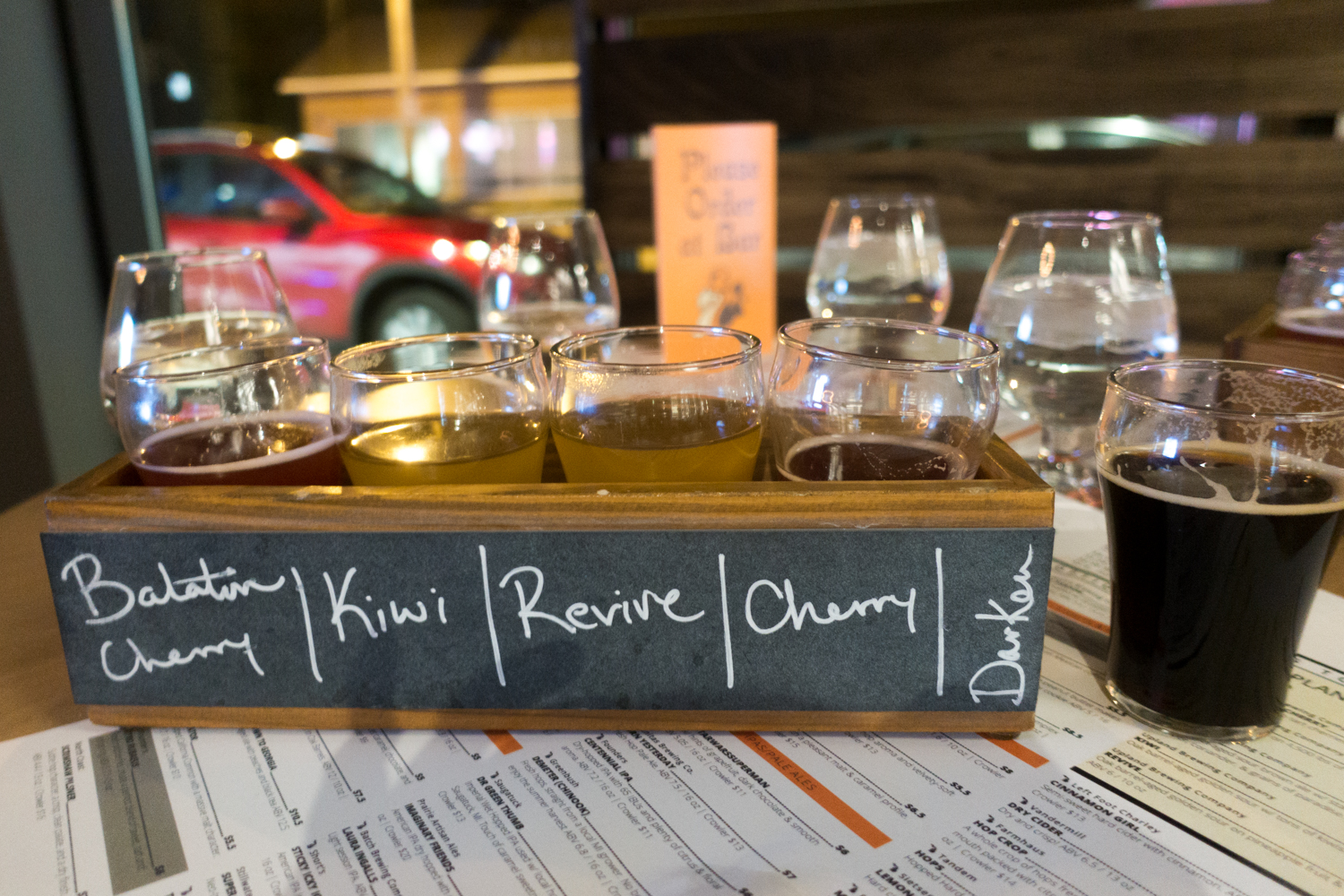 Sour Beer flight from Upland Brewing